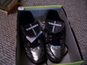 Cleats for soccer.