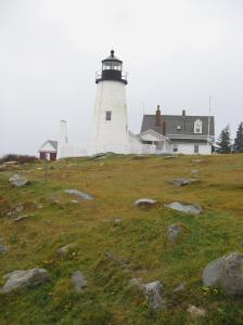 This is a lighthouse that we went to see in Maine....Pemaquid Point.