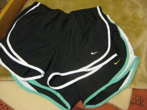 Brand new- 2 pairs of Nike running shorts- $3.99 each